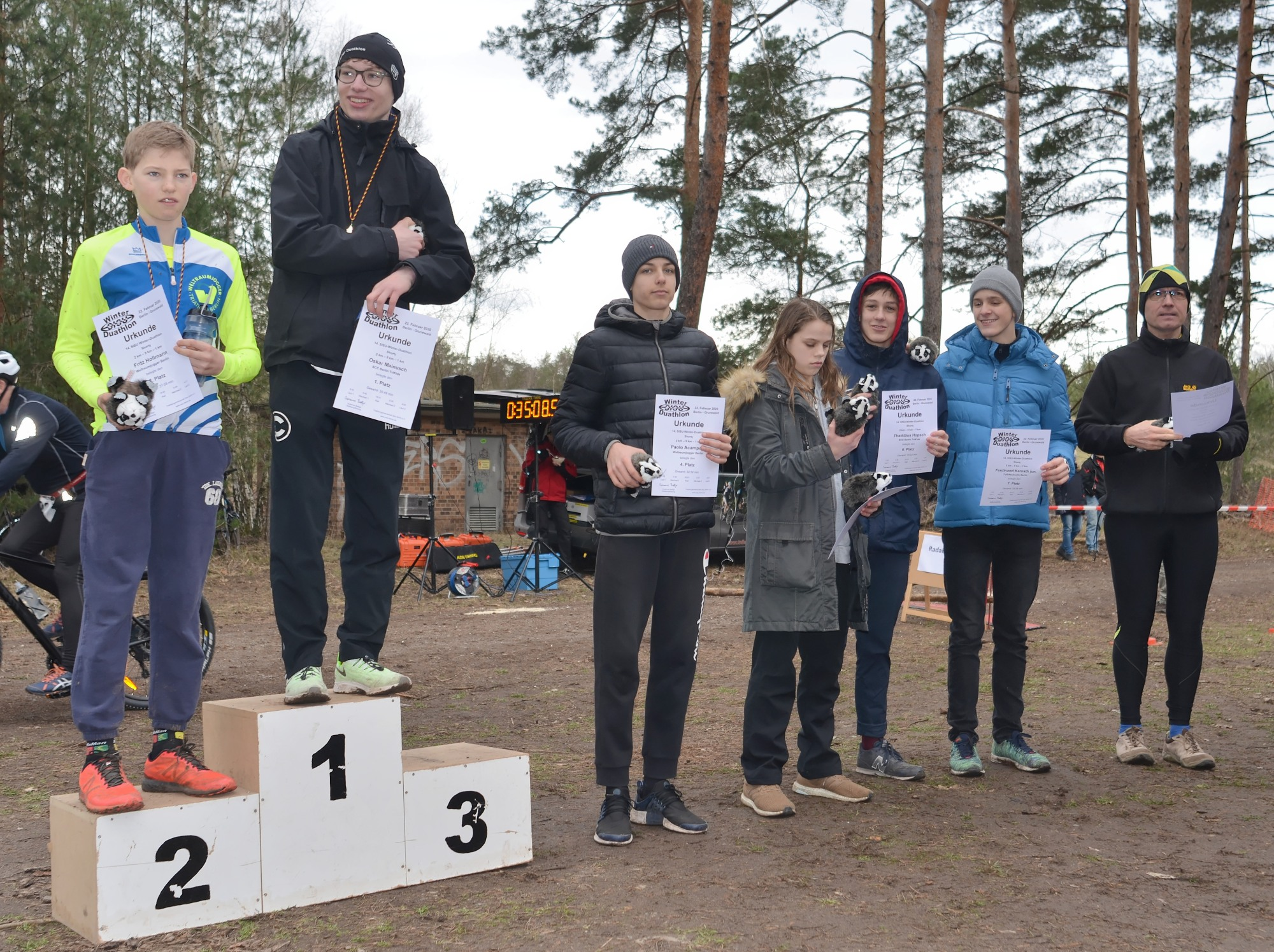 2020 Sisu Winterduathlon shorty Podium Männer